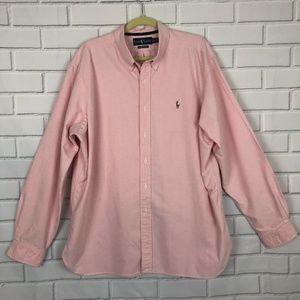 Ralph Lauren Polo Mens Pink w Colorful Pony 2XL